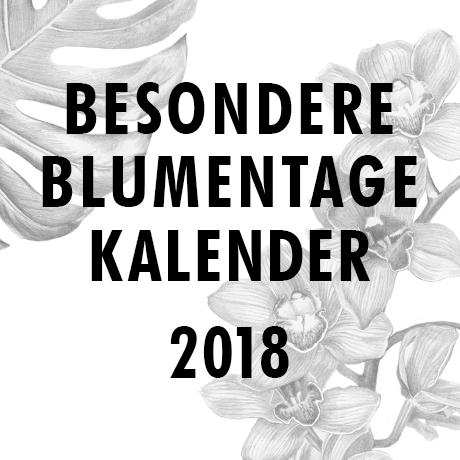 Blumentage Kalender 2018
