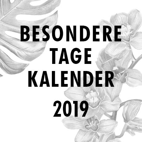 Besondere Tage Kalender 2019